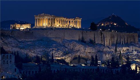 acropolis noche