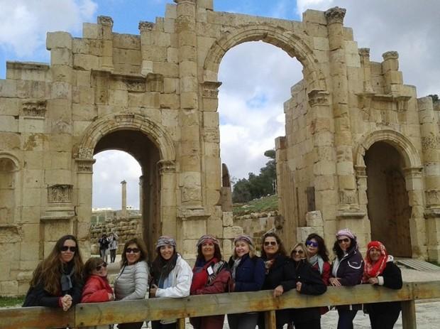 Mujeresxelmundo en jerash - jordania